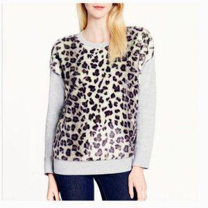 kate spade faux fur cheetah sweater size m nwot